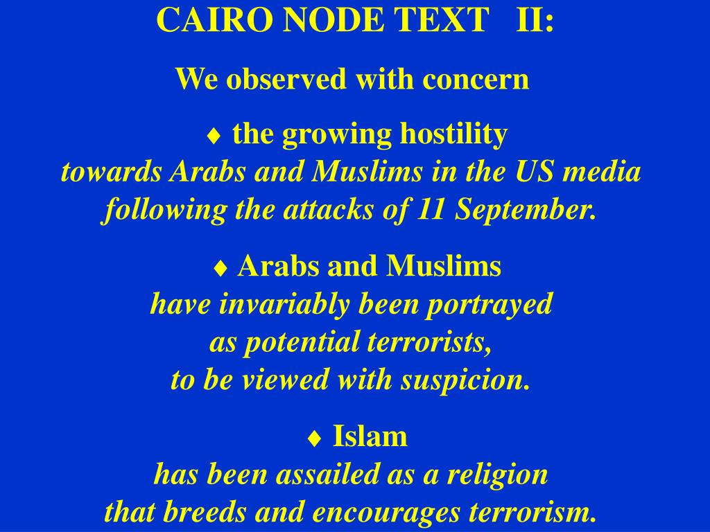 CAIRO NODE TEXT   II: