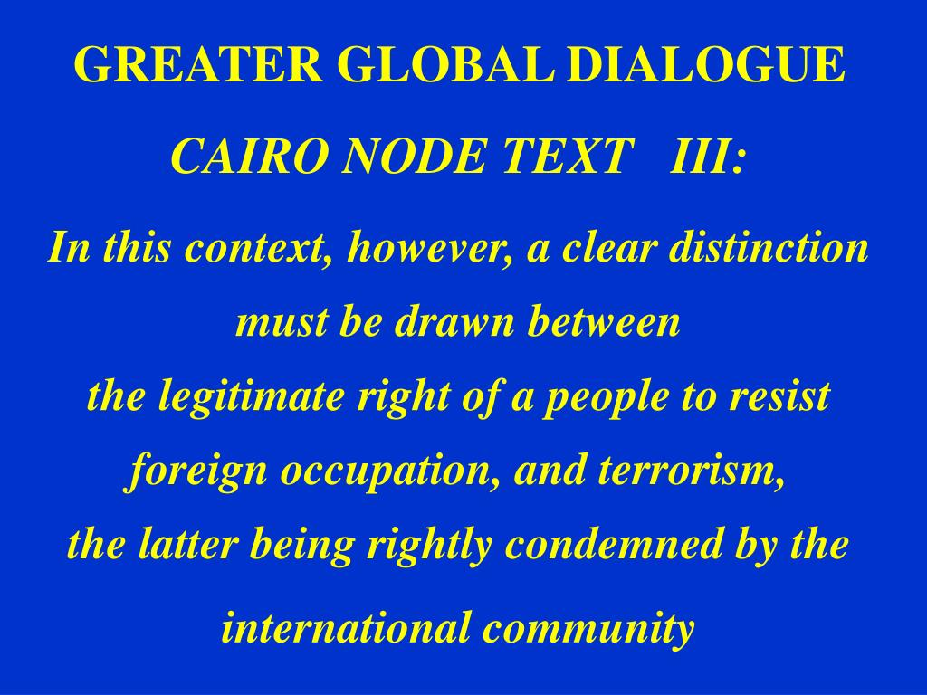 GREATER GLOBAL DIALOGUE