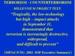 terrorism counterterrorism millennium project text