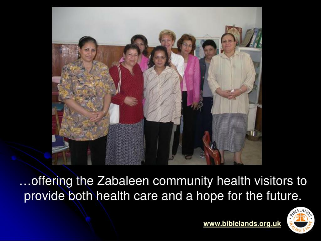 …offering the Zabaleen community health visitors to provide both health care and a hope for the future.