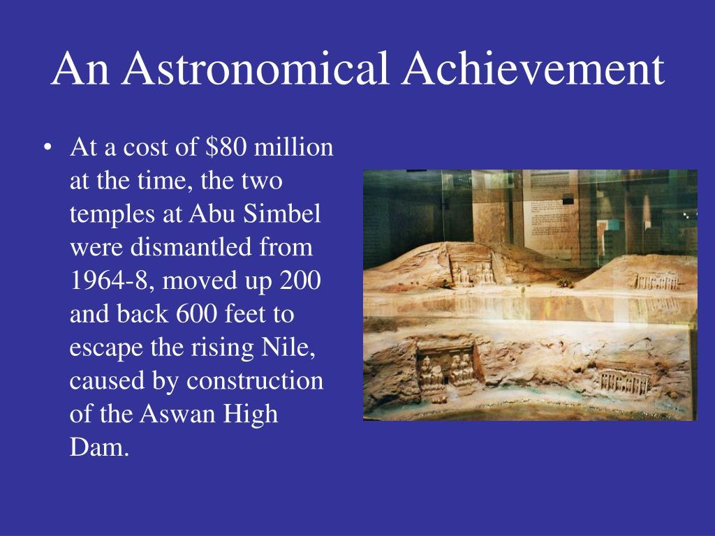 An Astronomical Achievement