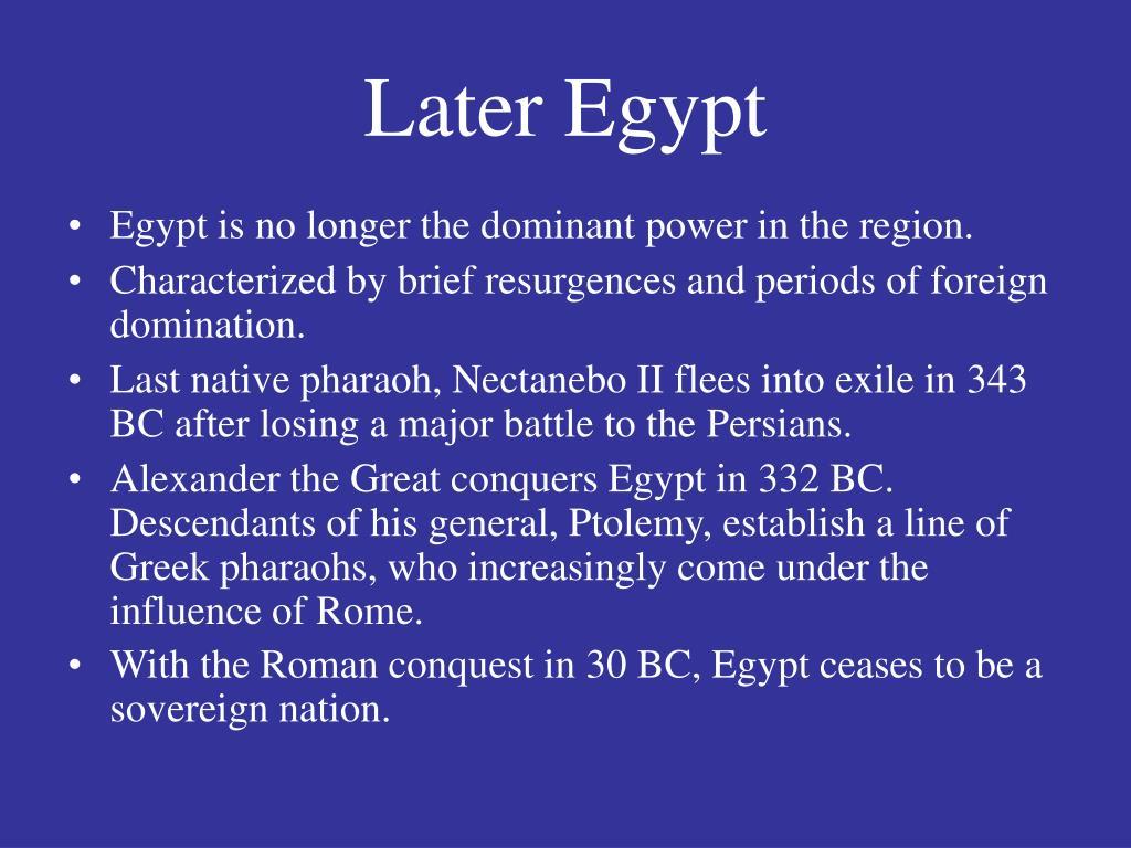 Later Egypt