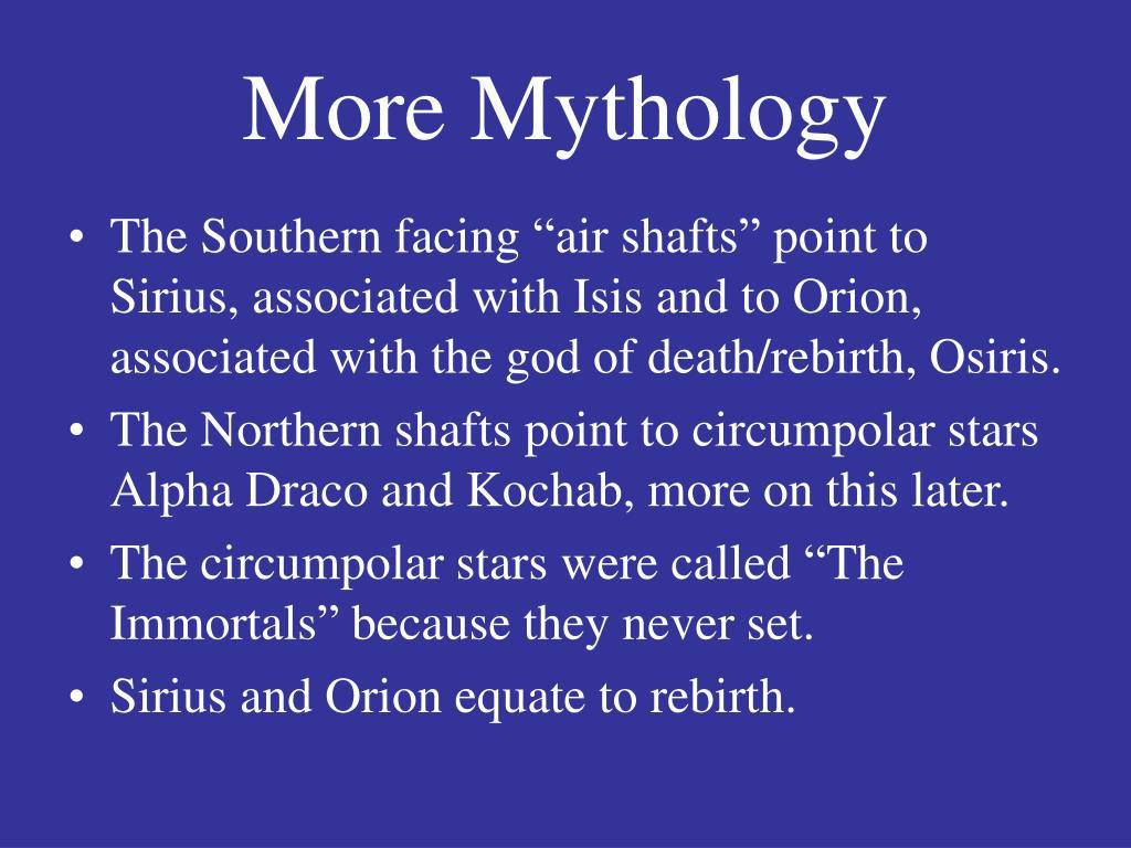 More Mythology
