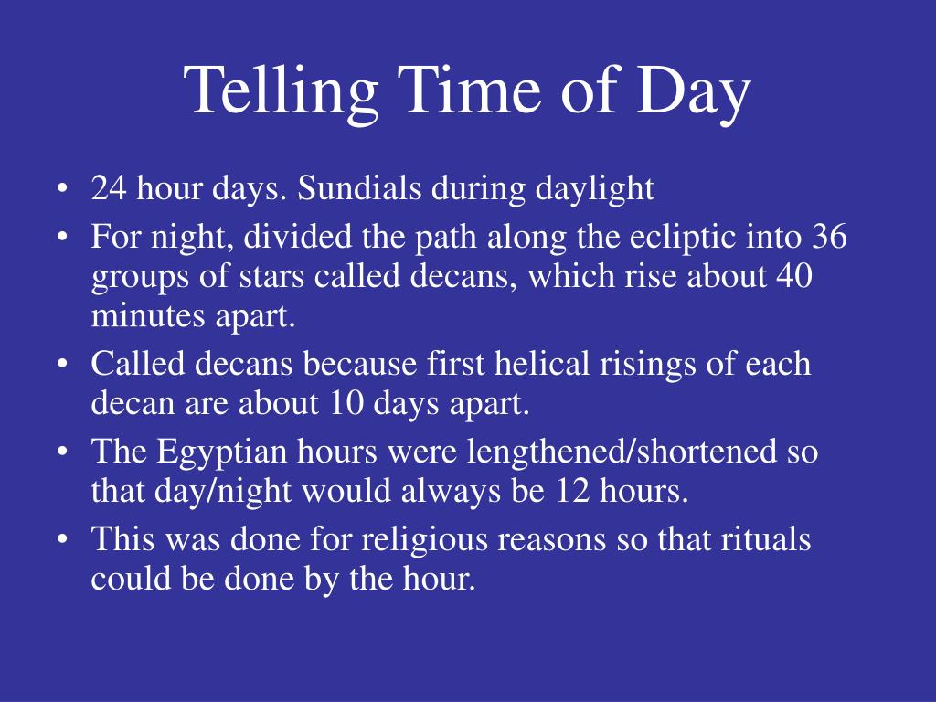 Telling Time of Day