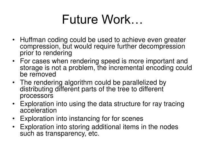 Future Work…