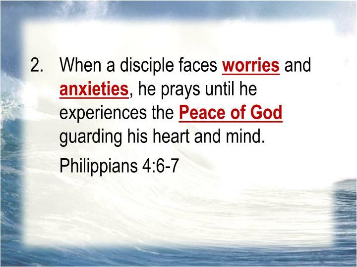 When a disciple faces