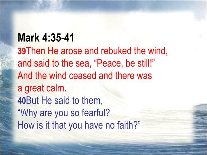 Mark 4:35-41