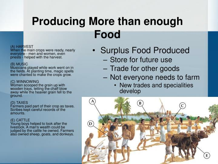 Producing more than enough food l.jpg