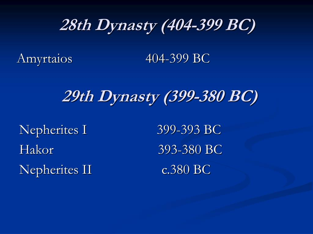 28th Dynasty (404-399 BC)