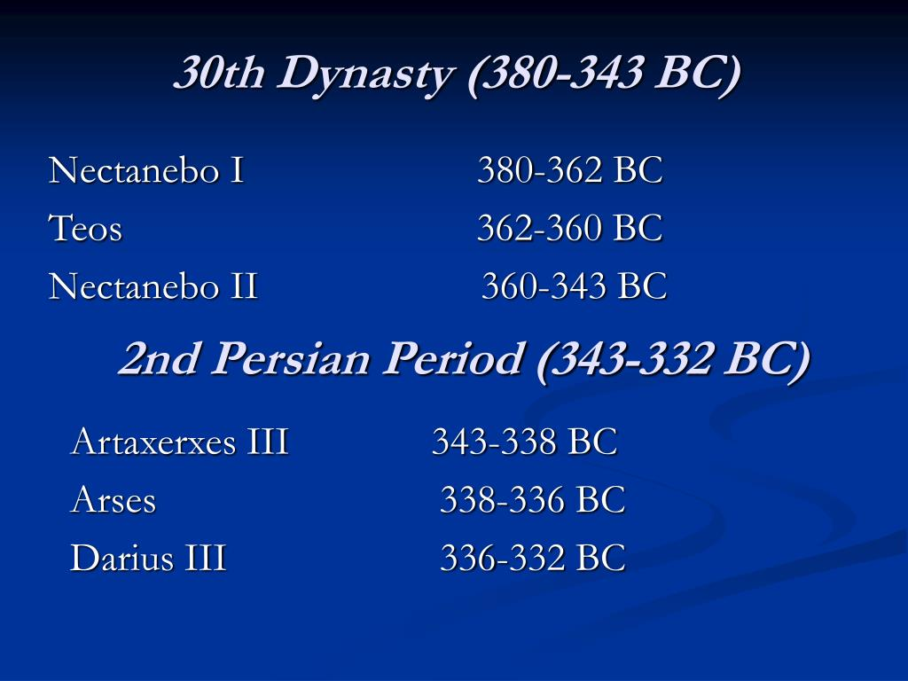 30th Dynasty (380-343 BC)