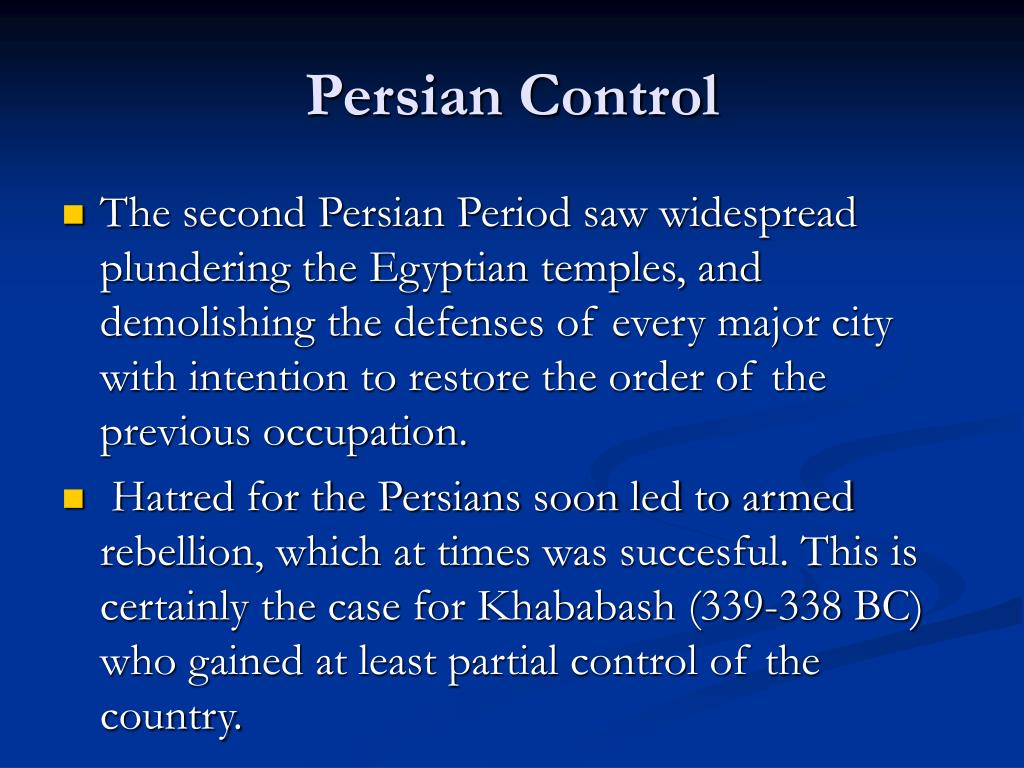 Persian Control