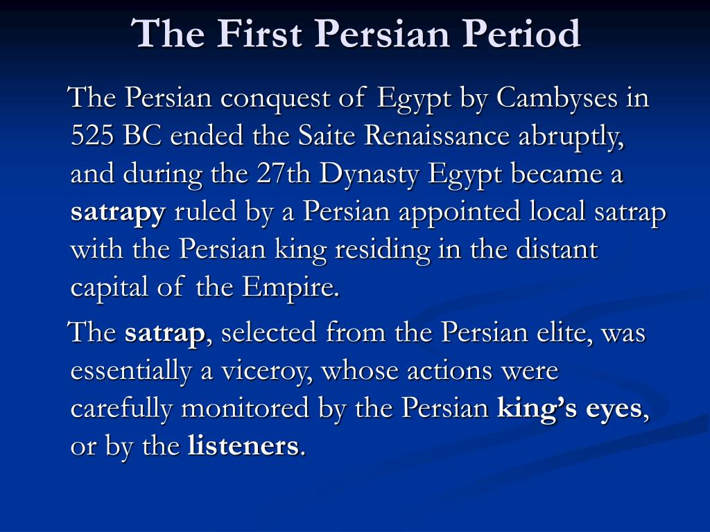 The First Persian Period