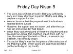friday day nisan 9