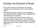 sunday the eleventh of nisan5
