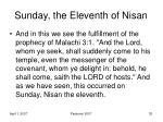 sunday the eleventh of nisan6