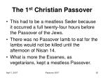 the 1 st christian passover10