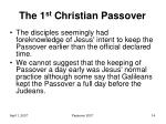 the 1 st christian passover4