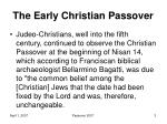the early christian passover1