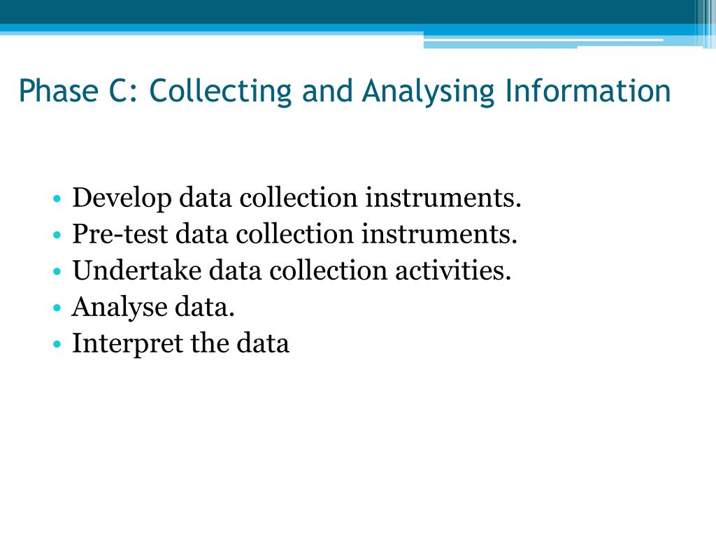 Phase C: Collecting and Analysing Information