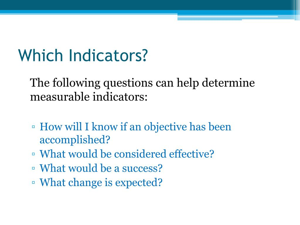 Which Indicators?