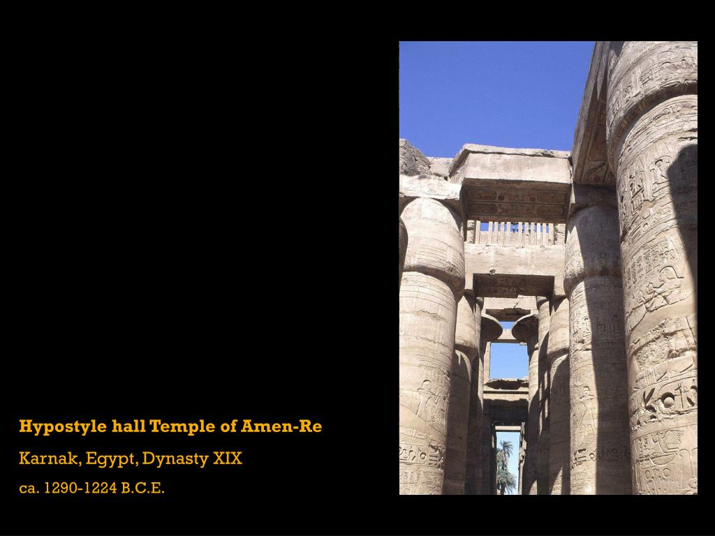 Hypostyle hall Temple of Amen-Re