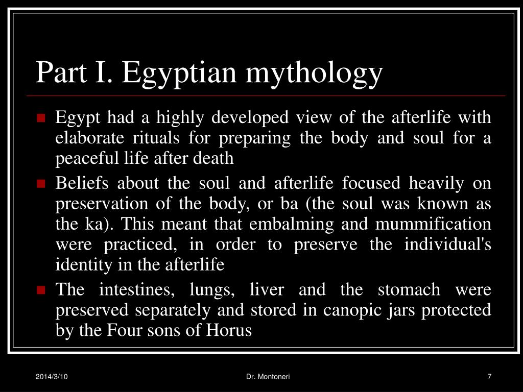 Part I. Egyptian mythology