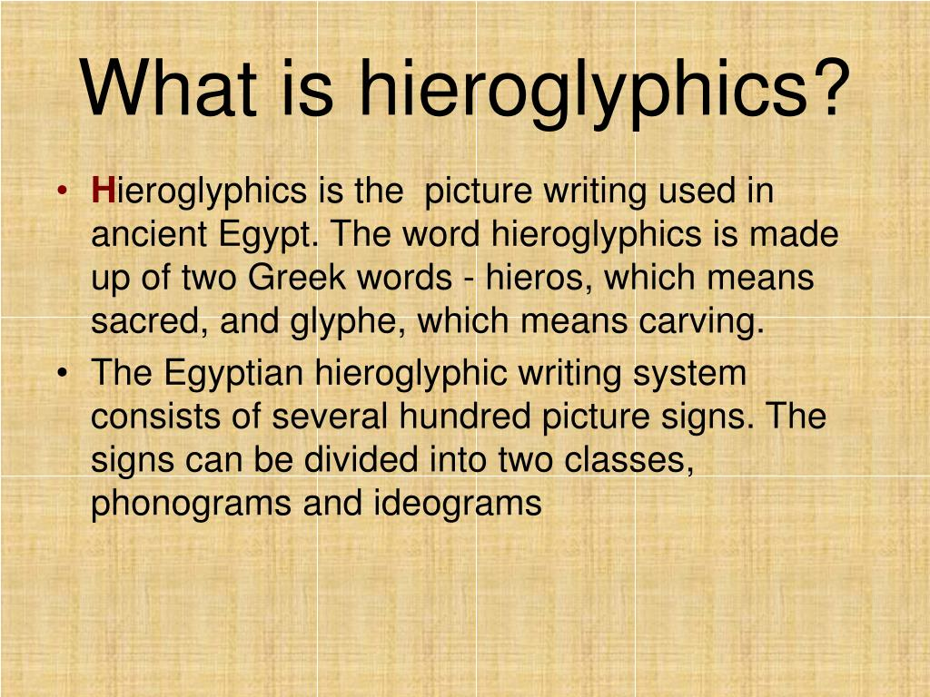 What is hieroglyphics?