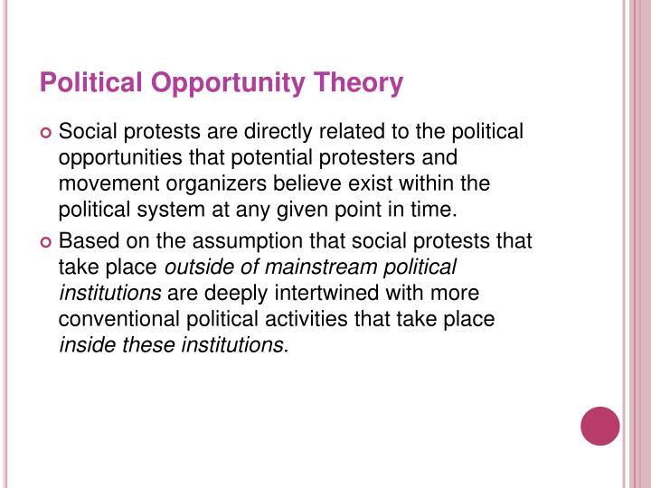 Political Opportunity Theory