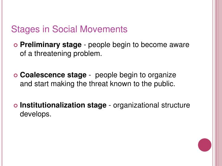 Stages in Social Movements