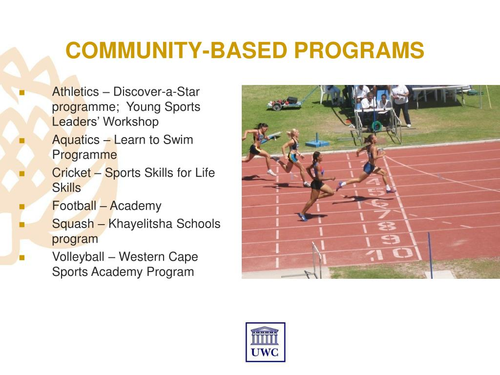 COMMUNITY-BASED PROGRAMS