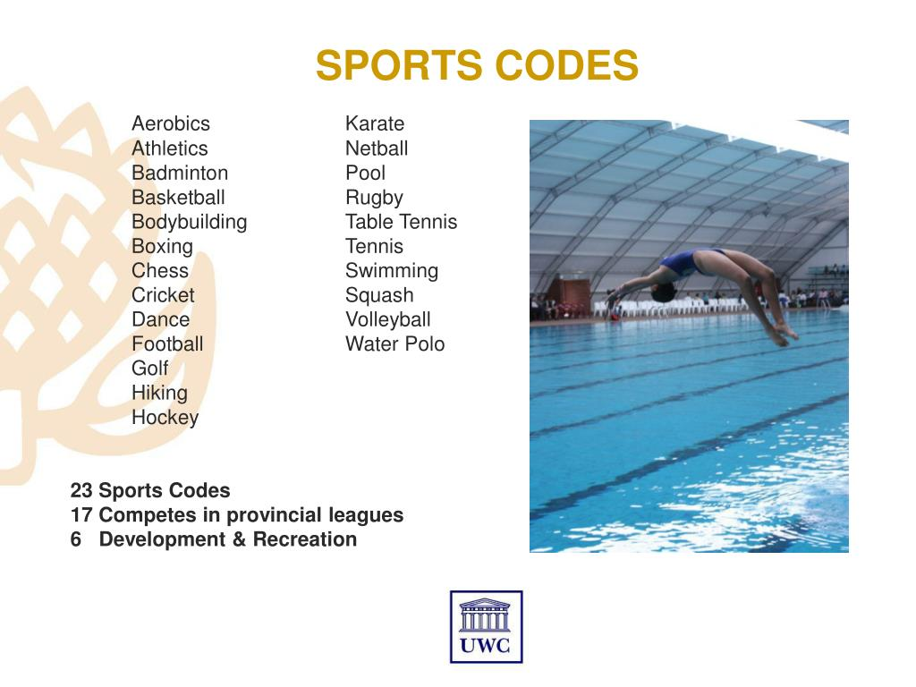 SPORTS CODES