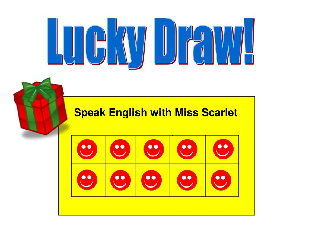 Speak English with Miss Scarlet