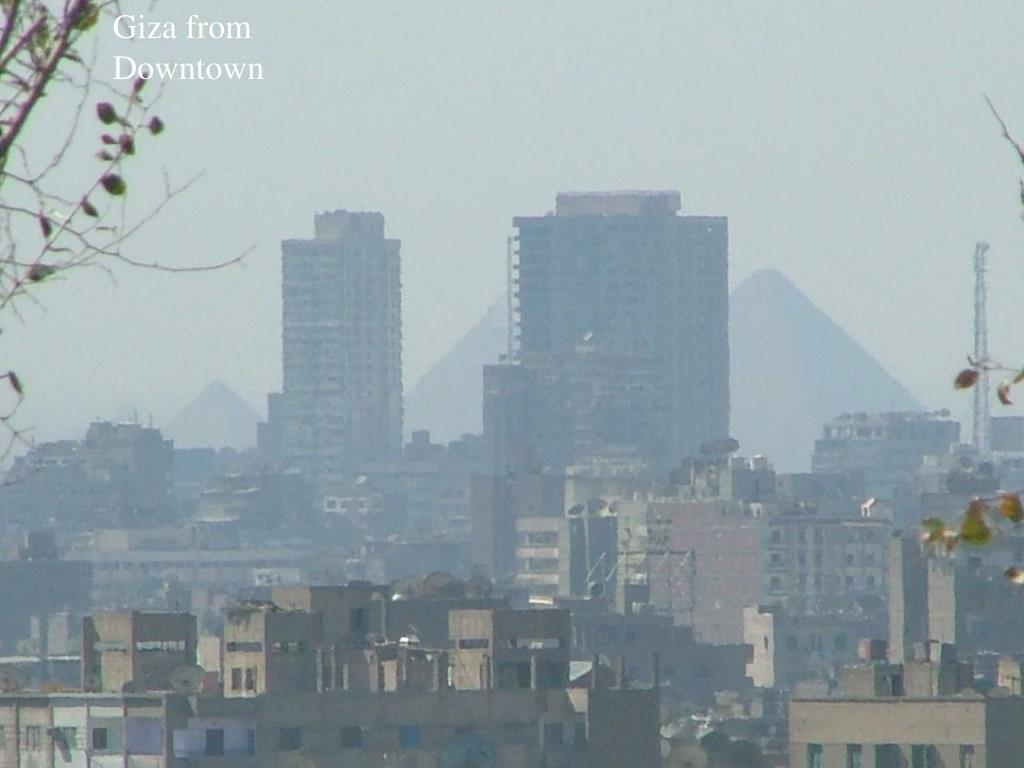 Giza from Downtown