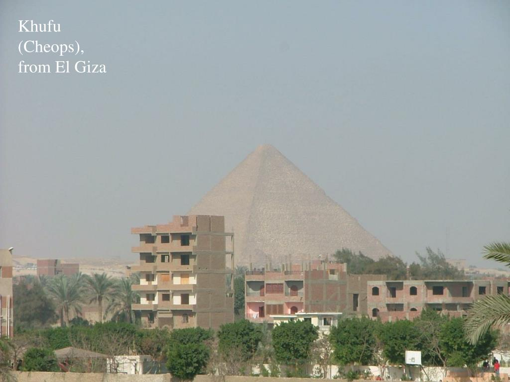 Khufu (Cheops), from El Giza