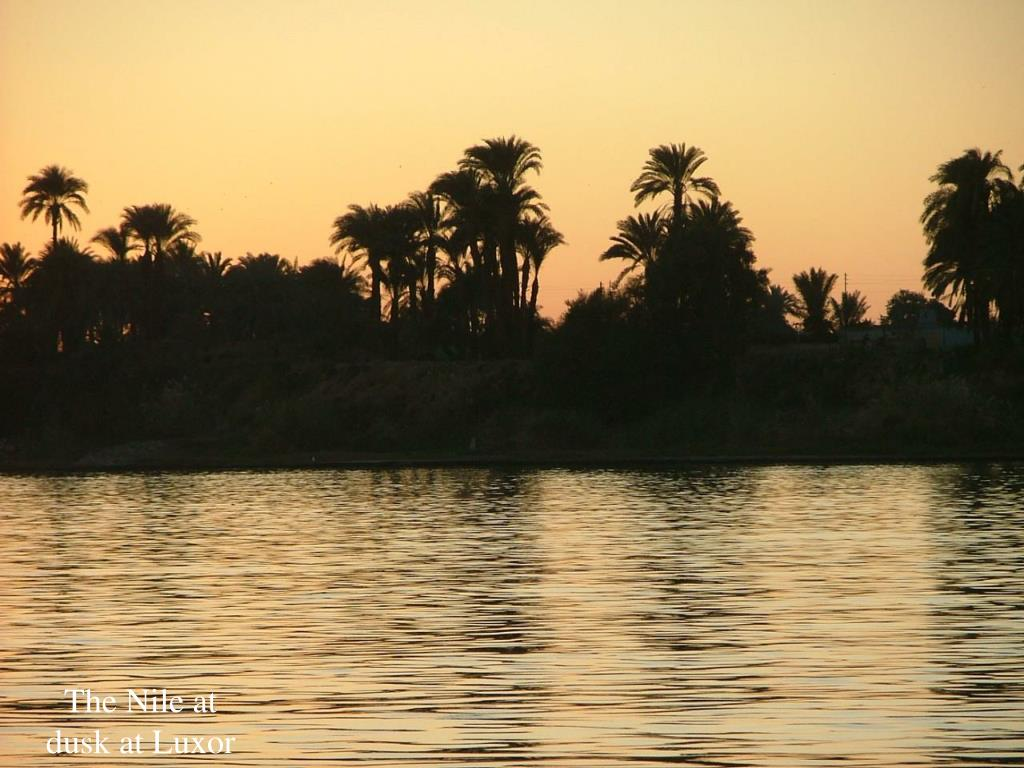 The Nile at dusk at Luxor