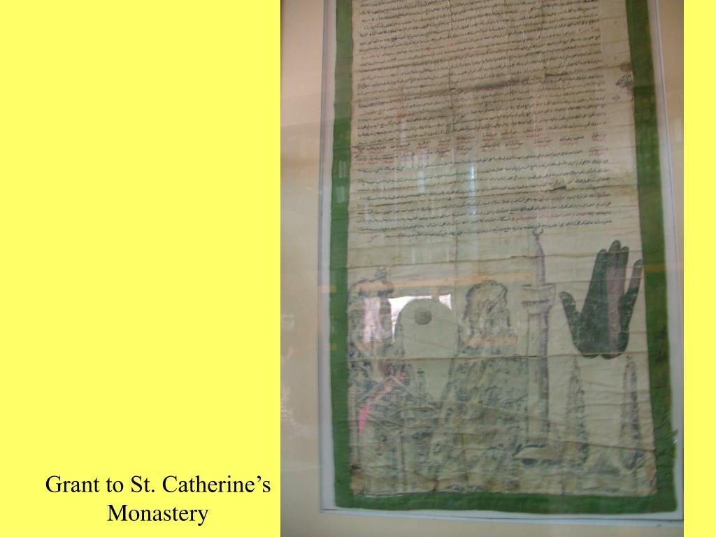 Grant to St. Catherine's Monastery