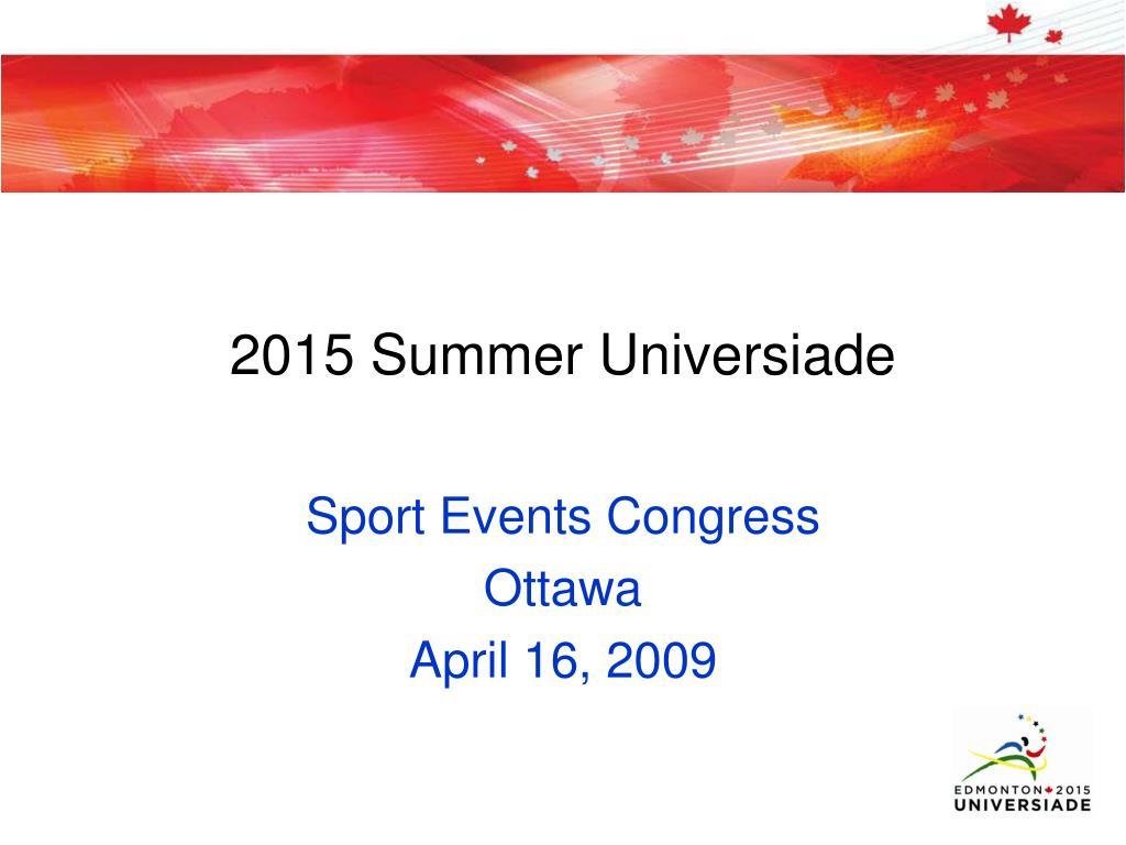2015 Summer Universiade