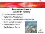 renovation projects under 1 million