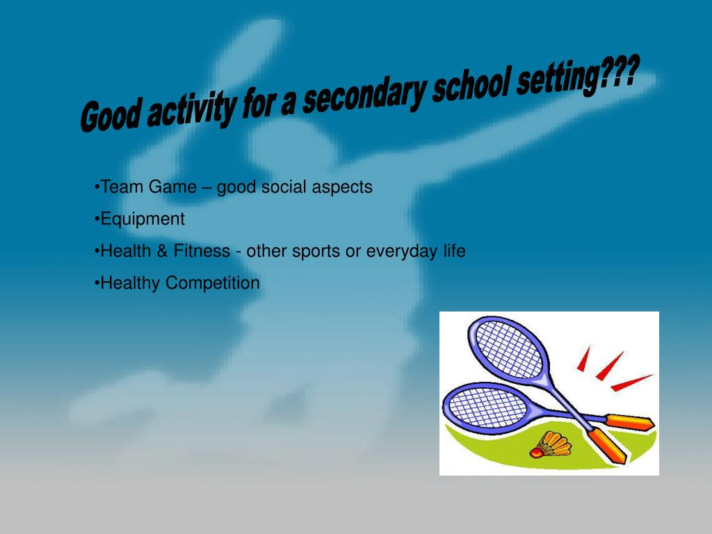 Good activity for a secondary school setting???