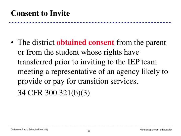 Consent to Invite