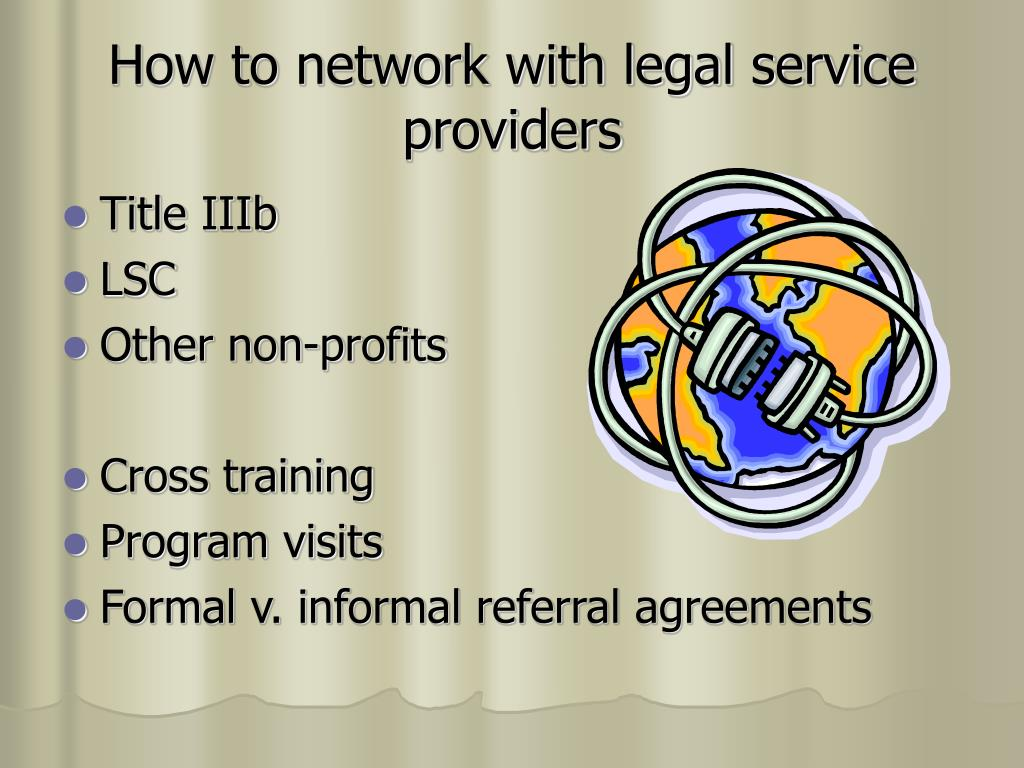 How to network with legal service providers