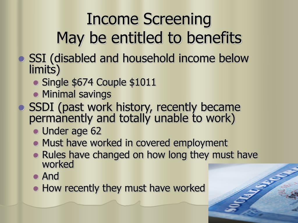 Income Screening