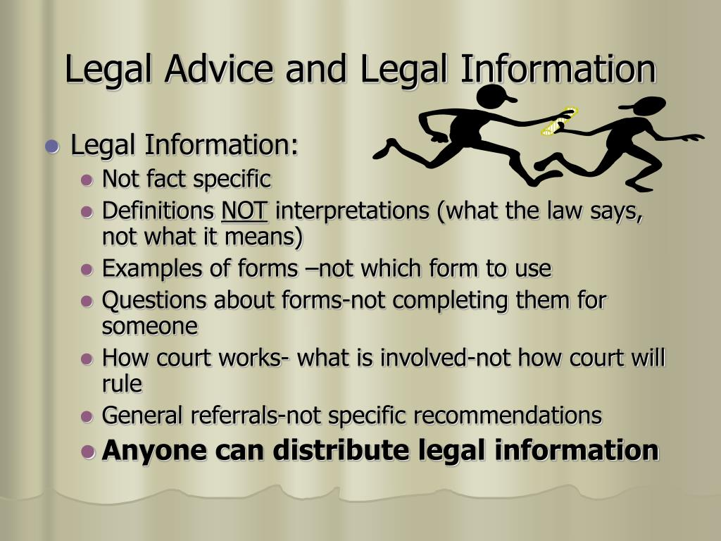 Legal Advice and Legal Information