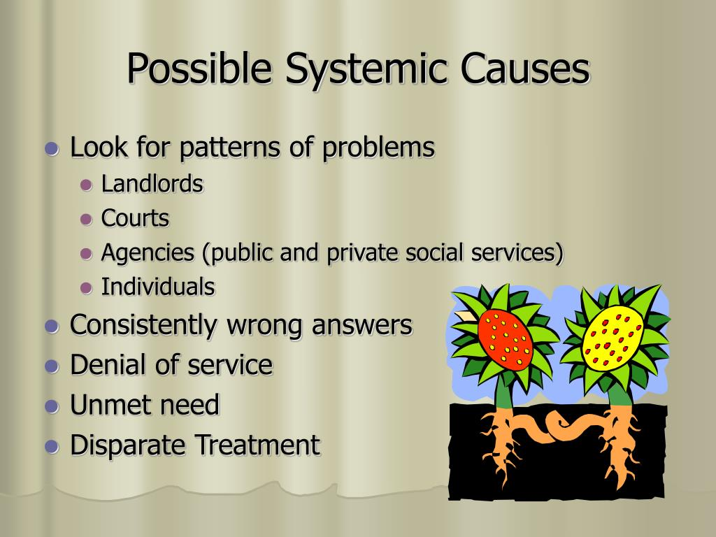 Possible Systemic Causes