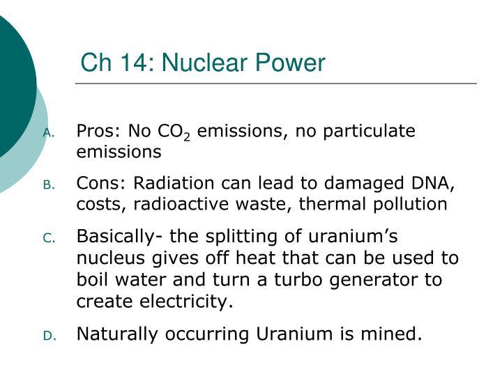Ch 14: Nuclear Power
