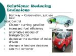 solutions reducing emissions