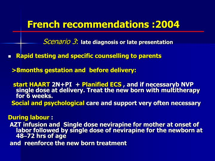French recommendations :2004