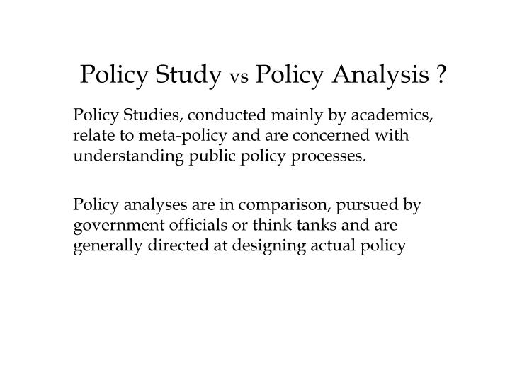 Policy Study