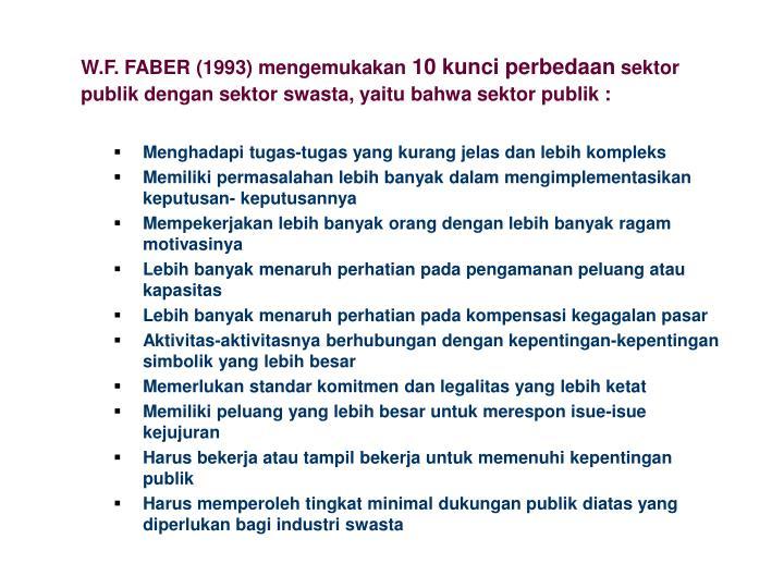 W.F. FABER (1993)