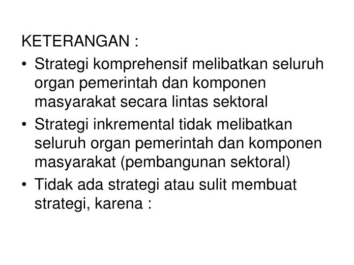 KETERANGAN :